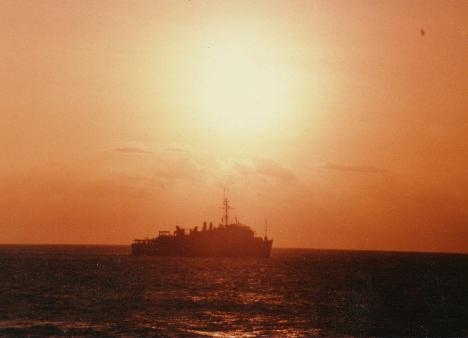 USS Spiegel Grove (LSD-32) @ sunset